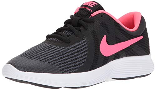 - Nike Girls' Revolution 4 (GS) Running Shoe, Black/Racer Pink-White, 5Y Regular US Big Kid