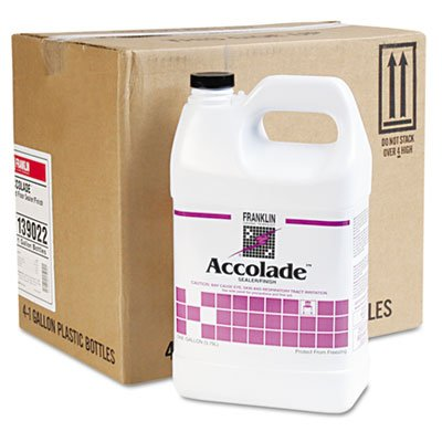 Franklin Cleaning Technology F139022 Accolade Hard Floor Sealer/Finish, 1 Gallon (Pack of 4)