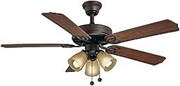 Hampton Bay Brookhurst 52 In. Indoor Oil Rubbed Bronze Ceiling Fan