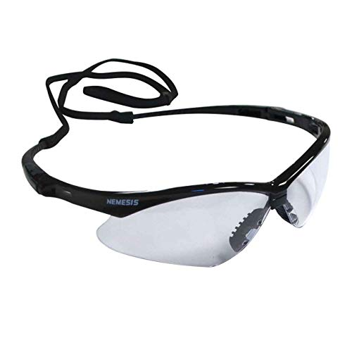 Jackson 3000355 KC 25679 Nemesis Safety Glasses Black Frame Clear Lens Anti Fog, 1 -