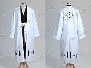 Bleach 5th Division Captain Aizen Sousuke Cosplay Costume Outfit Full Set (Male M)