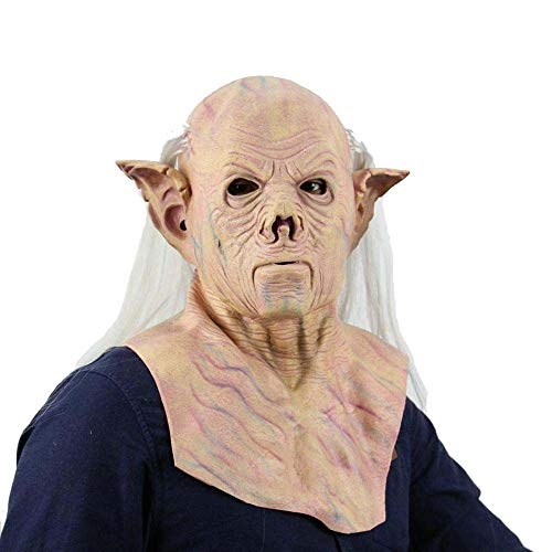 (LXIANGP Halloween Alien Pharaoh Horror Mask Horror Haunted House Grimace Tricky Props Latex)
