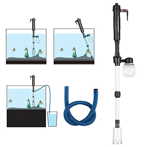 Hylotele Electric Aquarium Fish Tank Water Changer Sand Washer Vacuum Siphon Operated Gravel Cleaner Aquarium Cleaning Tool