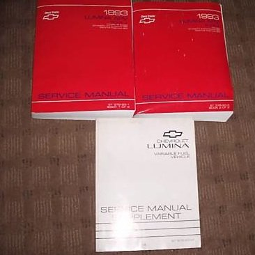 1993 Chevrolet Lumina APV Repair Service Manual Set Oem (service manual set, and the service manual supplement.)