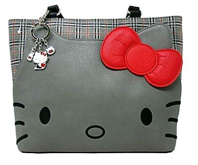 Loungefly x Hello Kitty Faux-Leather Plaid Tote Handbag