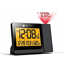 Ambient Weather ClearView Controlled Projection Alarm Clock with Indoor Temperature