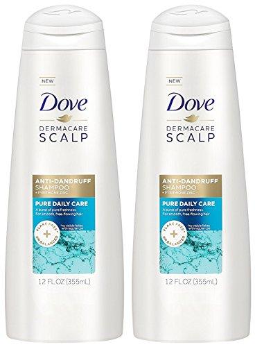 Dove Dermacare Scalp - Anti-Dandruff Shampoo - Pure Daily Care - Net Wt. 12 FL OZ (355 mL) Per Bottle - Pack of 2 Bottles