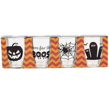 Halloween Clear Plastic Shot Glasses (Pack of 8) Perfect For Halloween Parties -