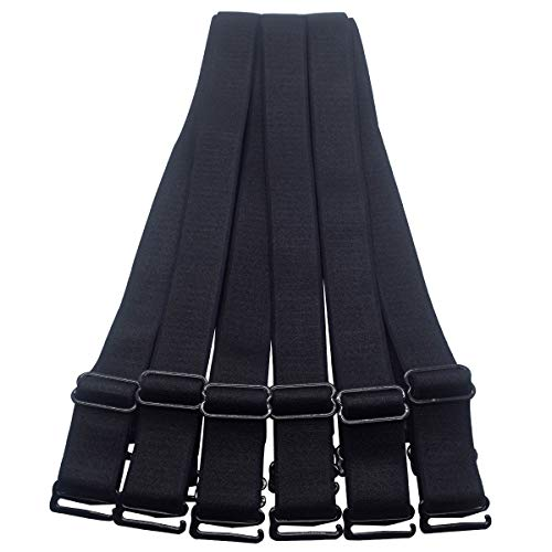 - Bra Straps Replacement Adjustable 12mm 15mm 18mm 20mm Width Black White Beige (20mm Black, 3 Pairs/Pack)