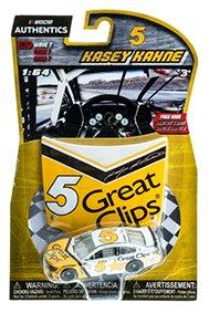 2017 NASCAR Authentics Great Clips Darlington Throwback (Geoff Bodine Colors) KASEY KAHNE #5 1:64 1/64 With Plastic Mini Replica Hood