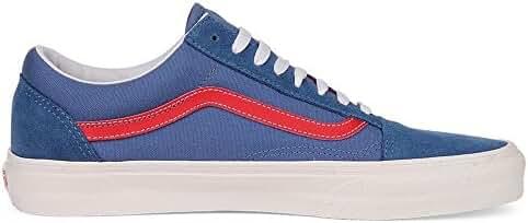 Vans Old Skool Sneakers (Vintage Sport) Bijou Blue/Racing Red Mens Mens 14