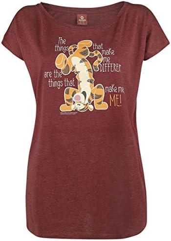 Winnie Pooh Tigger - Different Kobiety T-Shirt czerwony melanż L: Odzież