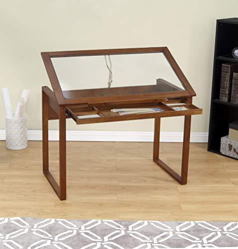 Glass Studio - Studio Designs Ponderosa Glass Topped Table in Sonoma Brown 13280