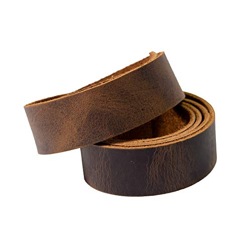 Hide & Drink, Leather Strong Strap (1 in.) Wide, Cord Braiding String, Medium Weight (1.8mm Thick) (60 in.) Long for Crafts/Tooling/Workshop :: Bourbon Brown