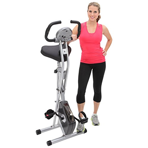 Exerpeutic Folding Magnetic Upright Bike with -