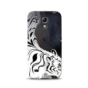 Diabloskinz D0105-0015-0003 - Carcasa impresa para Samsung Galaxy S4 Mini, diseño de tigre blanco