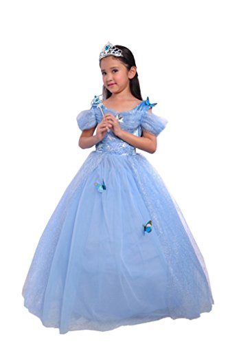 Girls Fashion New Style Princess Costume Dress Up for Toddler Girls Aged 10-13 -