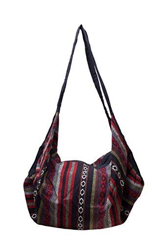 Handbag Backpack Shoulder Ikat Hippie Purse BTP Ik42 Hobo Bag Multicolor Handmade Cotton Hand Woven wxgpEEYR