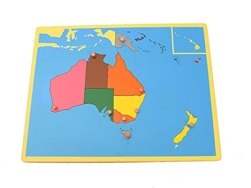 Montessori Early Childhood Educational Materials - Geography Family Set Small Australia Board Puzzle by PinkMontessori