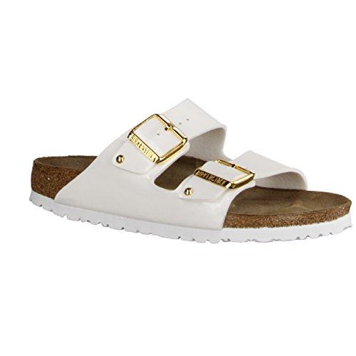 BIRKENSTOCK Chaussures - ARIZONA BF Lack 752623 - white studs