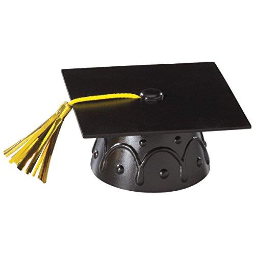 National Cake Supply Black Graduation Cap Cake Topper - -