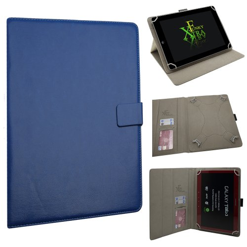 Xtra-Funky Exclusive Large Luxury Universal Pu Leather Folio Case Cover Fits Most 7.9