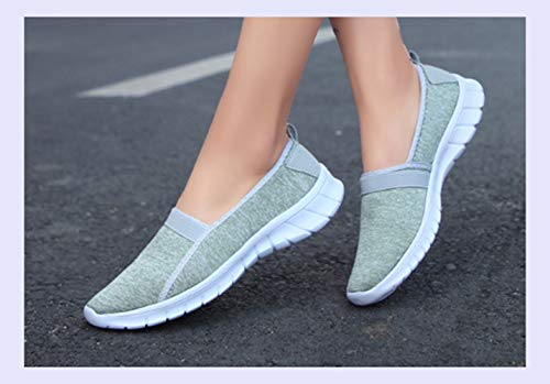 Lady Casual Mesh Breathable Shoes Women Outdoor Sneakers Shoes Comfortable Grey Summer Sport Walking Female Light XINGMU YRpnvW8W