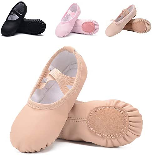 Ruqiji Leather Ballet Toddlers Slippers product image