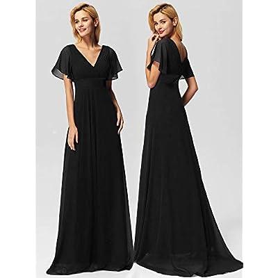 Ever-Pretty Women's Short Sleeve V-Neck Long Evening Dress 09890: Clothing