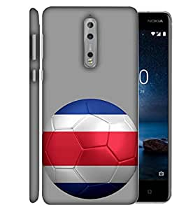 ColorKing Football Costa Rica 02 Grey shell case cover for Nokia 8