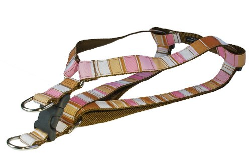 Brown Dog Stripes Harness - Sassy Dog Wear 15-21-Inch Brown/Multi Stripe Dog Harness, Small