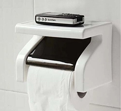 Weiß Kunststoff Wand Rollenpapier Toilet Tissue Box Case Container