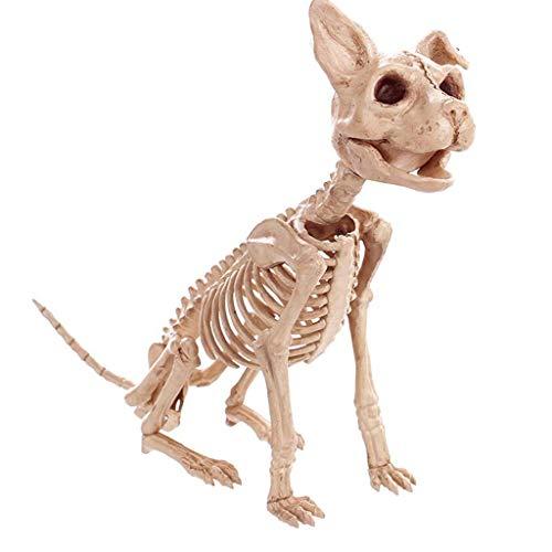 TLMYDD Halloween Decorations Simulation Animal Skeleton Dragon Dog Cat Snake Bones Bar Movies Haunted House Props Halloween Supplies