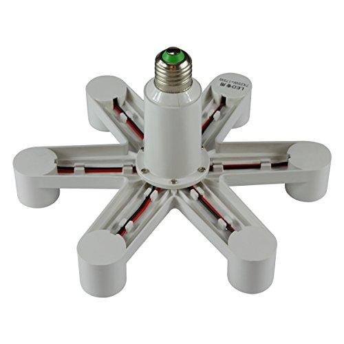 8T8 E26 E27 7 in 1 LED Light Bulbs Socket Adapter Splitter, Standard Lamp Holder Base Converter for Home Commercial Lighting (Paws_7)