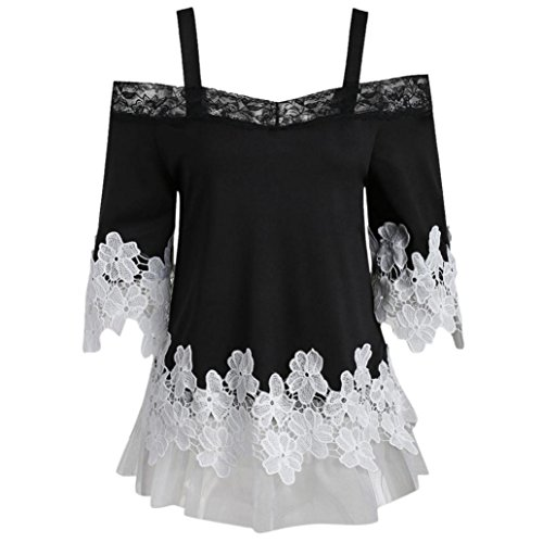 Clearance!Aniywn Lace Applique Off Shoulder Half Sleeve Sling Top Fashion Women Camis Blouse (Mens Graphic Applique Polos)