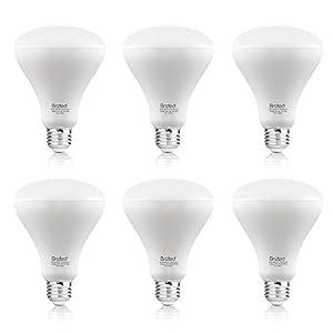 Brizled 6 Pack BR30 Recessed Light Bulbs, 11W Equivalent 75W LED Light Bulbs, 800 Lumens 3000K Warm White Flood Light Bulb, E26 Non-dimmable Indoor Light Bulbs UL Listed LED Bulbs for Basement.