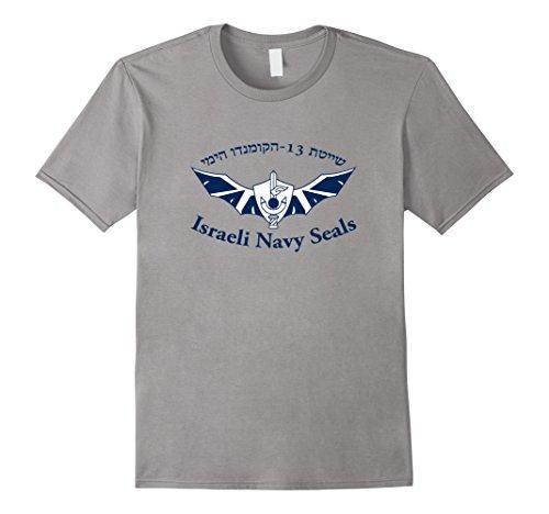 Mens Shayetet 13 T-Shirt Israeli Navy Seals IDF Special Ops Unit 3XL Slate (Navy Operations Special)