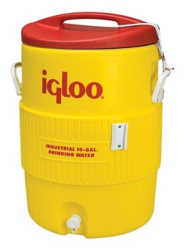 Igloo Industrial Enfriador de Bebidas, 10 galones, Amarillo/Rojo ...