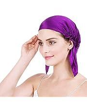 Emmet Comfortabele zijden nachtmuts voor dames, hoofdbedekking, slaapmuts, haar beschermen