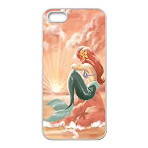 Little Mermaid Waiting Prince White iPhone 5s case