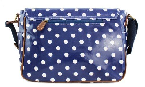 Miss Lulu, Borsa a secchiello donna Polka Dots Navy Blue