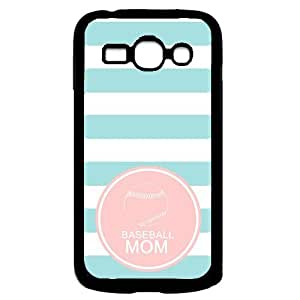 Baseball Mom Aqua Stripes Circle Hipster Aqua Silicon Bumper Samsung Galaxy Ace 3 i7272 Case - Fits Samsung Galaxy Ace 3 i7272