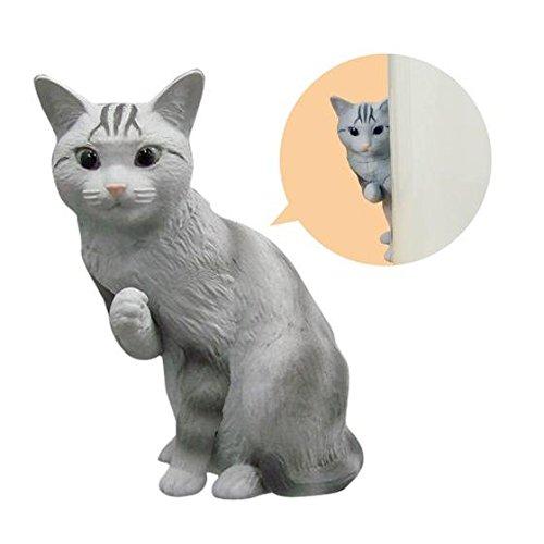 Gashapon Desk de ganbaru nyan set of 5 American shorthair cat ver.