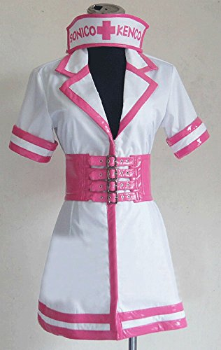 Relaxcos Super Sonico Red Nurse Uniforms Cosplay Costume