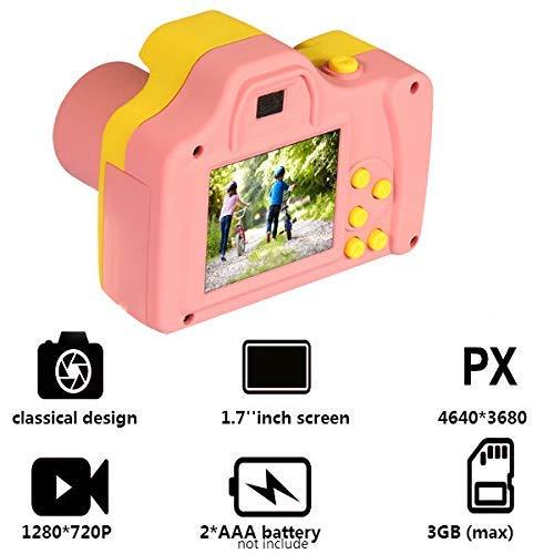 ZEERKEER HD Mini Digital Video Cameras,Kids Childrens Point and Shoot Digital Video Camera Recorders Cute Birthday for Kids (Pink) by ZEERKEER (Image #6)