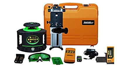 Johnson Level & Tool 40-6548 Electronic Self-Leveling Horizontal & Vertical Rotary Laser Kit with GreenBrite Technology