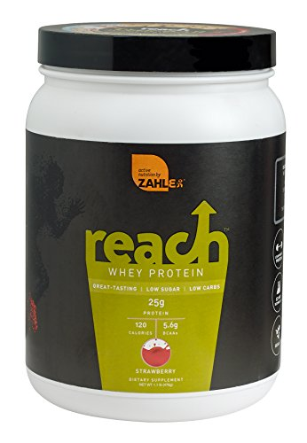 Zahler Reach, Whey Protein Powder, Advanced Formula for Lean Muscle Build, Certified Kosher, Great Tast (Strawberry, 1 Pound)
