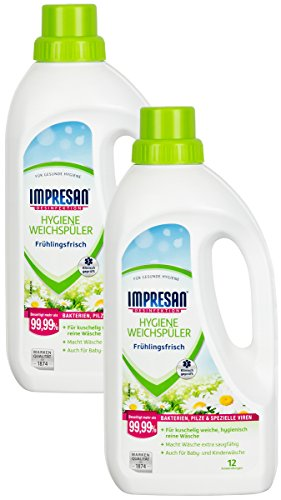 Heitmann 3540 Impresan Hygiene-Weichspüler Frühlingsfrisch - 2 x 1 L