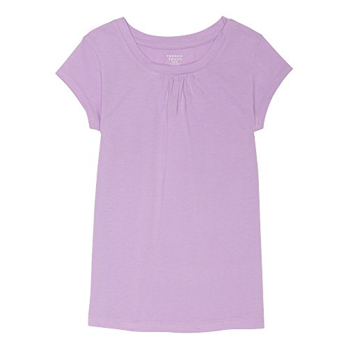 French Toast Little Girl's Short Sleeve Crewneck Tee Shirt, Pure Lavender, - Kids 533