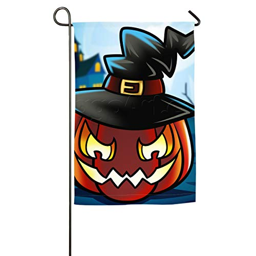 Qinf How-to-Draw-a-Halloween-Pumpkin 1 000000020888 5 Floral Garden Yard Flag Banner-Best for Party and -